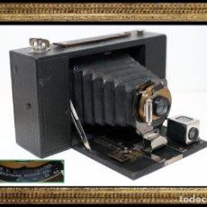 Cámara de fotos: CAMARA ANTIGUA MADERA Y FUELLE ..KODAK Nº3 FOLDING BROWNIE MODEL D..USA 1908..BUEN ESTADO..FUNCIONA.. Lote 112244767