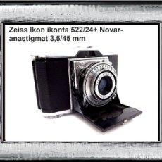 Cámara de fotos: ZEISS IKON IKONTA + NOVAR-ANASTIGMAT 3,5/45MM ESPECTACULAR TELE-MÉTRIC ALEMANA DE 1938.ÓPTIMO ESTADO. Lote 113154339