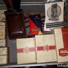 Cámara de fotos: ROLLEIFLEX EQUIPO COMPLETO 1949 MOD.K4B OBJETIVO ZEISS JENA TESSAR 3.5/75. Lote 112903155