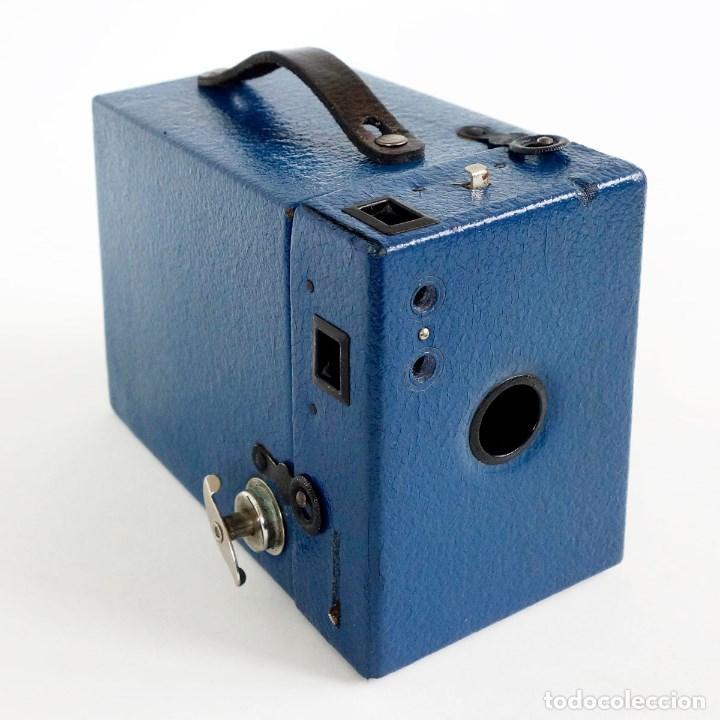 MUY RARA CÁMARA BLUE CORONET BOX. FUNCIONA. AÑOS 30 (Cámaras Fotográficas - Antiguas (hasta 1950))