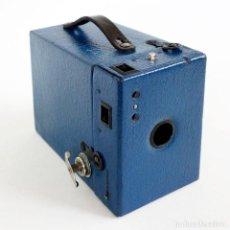 Cámara de fotos: MUY RARA CÁMARA BLUE CORONET BOX. FUNCIONA. AÑOS 30. Lote 115167479