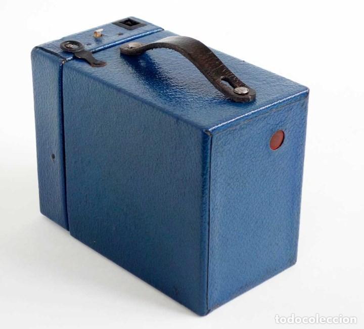 Cámara de fotos: MUY RARA CÁMARA BLUE CORONET BOX. FUNCIONA. AÑOS 30 - Foto 6 - 115167479