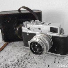 Cámara de fotos: ANTIGUA CÁMARA DE FOTOS FOTOGRÁFICA TELEMÉTRICA SOVIÉTICA RUSA ALEMANA ZORKI 4 LEICA II AÑO 1956 . Lote 115738503