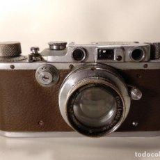 Cámara de fotos: CÁMARA LEICA IIIB MODELO G DE 1938 DE PIEL MARRÓN. Lote 116478459