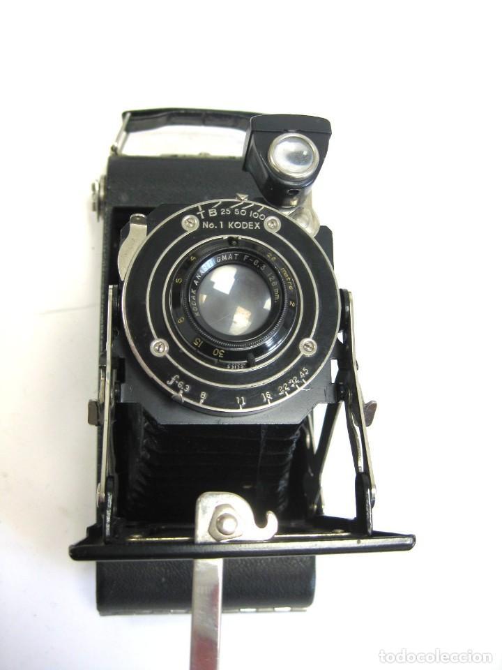CÁMARA KODAK JUNIOR SIX-16 MADE IN USA, N. YORK CON FUNDA DE CUERO (Cámaras Fotográficas - Antiguas (hasta 1950))