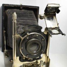 Cámara de fotos: CÁMARA DE FUELLE EXTENSIBLE LEONAR-WERKE 1910. Lote 118248403