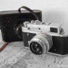 Cámara de fotos: ANTIGUA CÁMARA DE FOTOS FOTOGRÁFICA TELEMÉTRICA SOVIÉTICA RUSA ALEMANA ZORKI 4 LEICA II AÑO 1956 . Lote 118587607