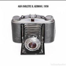 Cámara de fotos: AGFA ISOLETTE II. CAMARA PLEGABLE ALEMANA DE 1950. MEDIO FORMATO. MUY BUEN ESTADO.. Lote 124271023