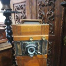 Cámara de fotos: CAMARA FOTOGRAFICA DE MADERA DEL XIX.. Lote 127213496