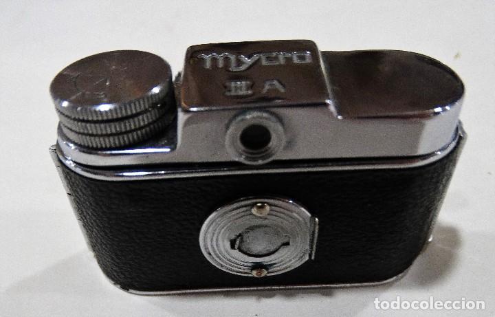 Cámara de fotos: CÁMARA DE FOTOS ANTIGUA MYCRO -IIIA- AÑO 1952 APROX - ESTUCHE ORIGINAL CUERO. - Foto 5 - 127661799