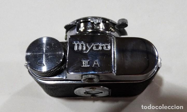 Cámara de fotos: CÁMARA DE FOTOS ANTIGUA MYCRO -IIIA- AÑO 1952 APROX - ESTUCHE ORIGINAL CUERO. - Foto 7 - 127661799
