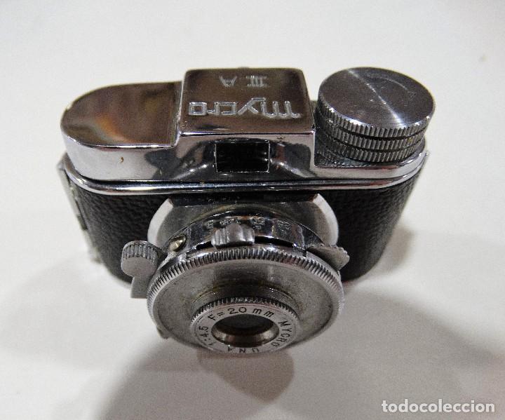 Cámara de fotos: CÁMARA DE FOTOS ANTIGUA MYCRO -IIIA- AÑO 1952 APROX - ESTUCHE ORIGINAL CUERO. - Foto 10 - 127661799