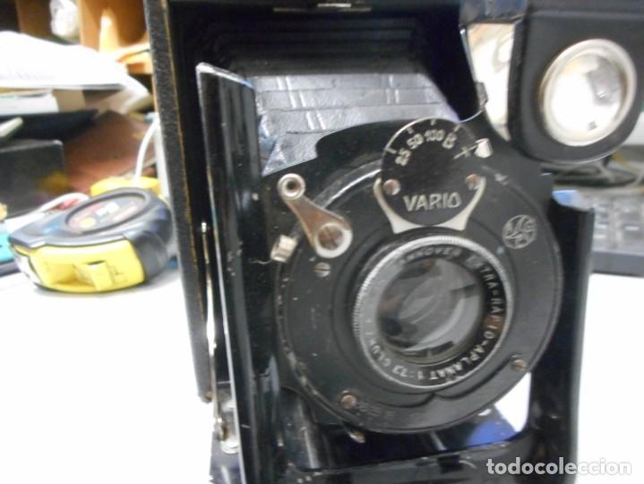 Cámara de fotos: antigua camara de fotos de fuelle vario con portafotografias - Foto 4 - 130602830