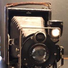 Cámara de fotos: CÁMARA ENSING Y OBJETIVO ZEISS IKON. FUELLLE. 1920 ?. Lote 131054261