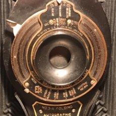 Cámara de fotos: CÁMARA KODAK 3A FOLDING AUTOGRAPHIC. BROWNIE. TAMAÑO GRANDE. FUELLE. 1920?. Lote 131079775