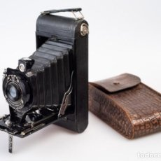 Cámara de fotos: KODAK Nº1ª POCKET KODAK (1926-1931) CON FUNDA DE PIEL MARRÓN. ROLLO 116.. Lote 132094046