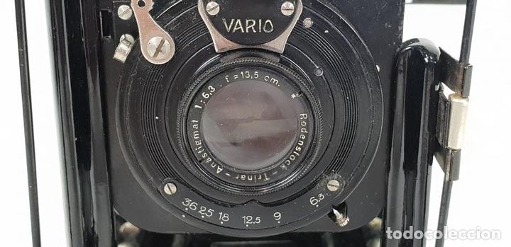 Cámara de fotos: CAMARA FOTOGRÁFICA RODENSTOCK. TRINAR. ANASTIGMAT. VARIO. CIRCA 1930. - Foto 8 - 132451170