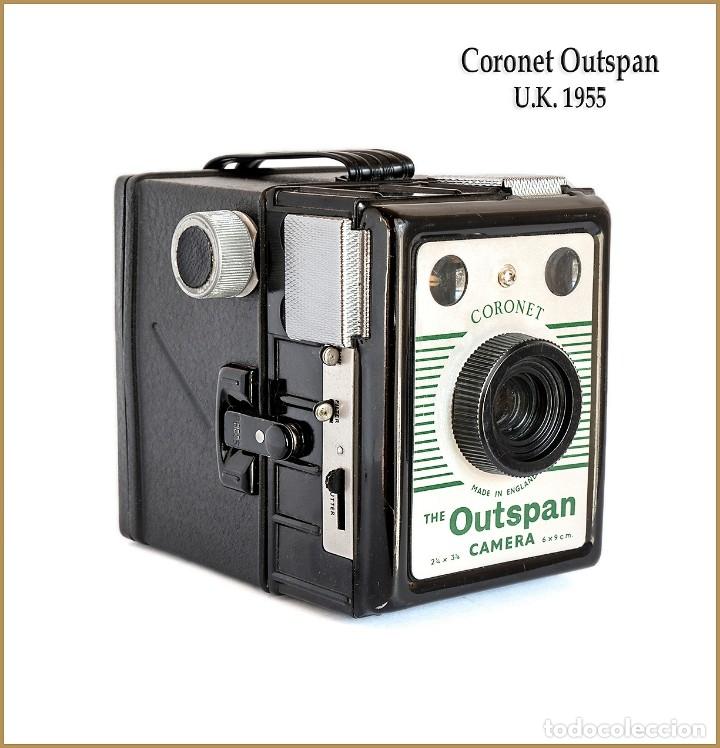 CORONET.THE OUTSPAN CAMERA. FABRICACION INGLESA DE 1955. MUY BUEN ESTADO. (Cámaras Fotográficas - Antiguas (hasta 1950))