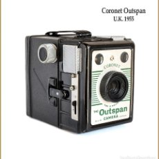 Cámara de fotos: CORONET.THE OUTSPAN CAMERA. FABRICACION INGLESA DE 1955. MUY BUEN ESTADO.. Lote 134904238