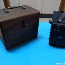 Cámara de fotos: CÁMARA BOX GAP CON CAJA DE MADERA. Lote 148853154