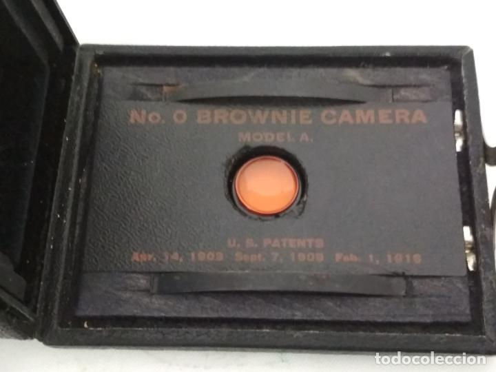 Cámara de fotos: CAMARA DE CAJON Nº0 BROWNIE MOD A - 1916, MADE IN USA, BY EASTMAN KODAK - Foto 7 - 135741371