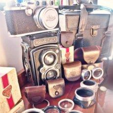 Cámara de fotos - Rolleiflex automat modelo 2, Leica IIIF, Accesorios y maletín periodista antíguo NEGOCIBLES!! - 136465829