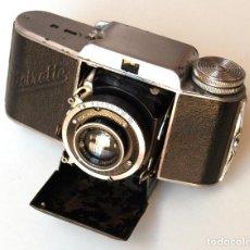 Cámara de fotos: *1939* • BEIER BEIRETTE I TIPO 1 RADIONAR F2.9 • MUY RARA CÁMARA FOLDING 35MM CON COMPUR. Lote 138903986