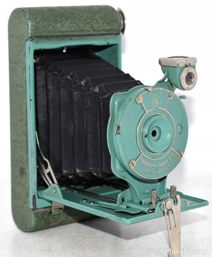 PEQUEÑA JOYA EN COLOR VERDE..USA 1930..KODAK VEST POCKET RAINBOW HAWKEYE..MUY BUEN ESTADO..FUNCIONA (Cámaras Fotográficas - Antiguas (hasta 1950))