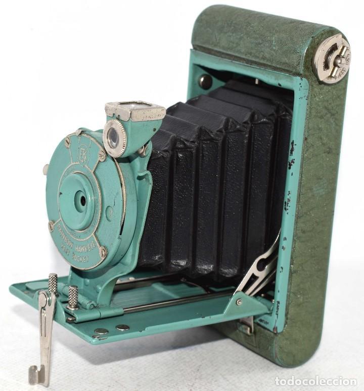 Cámara de fotos: PEQUEÑA JOYA EN COLOR VERDE..USA 1930..KODAK VEST POCKET RAINBOW HAWKEYE..MUY BUEN ESTADO..FUNCIONA - Foto 3 - 139083158