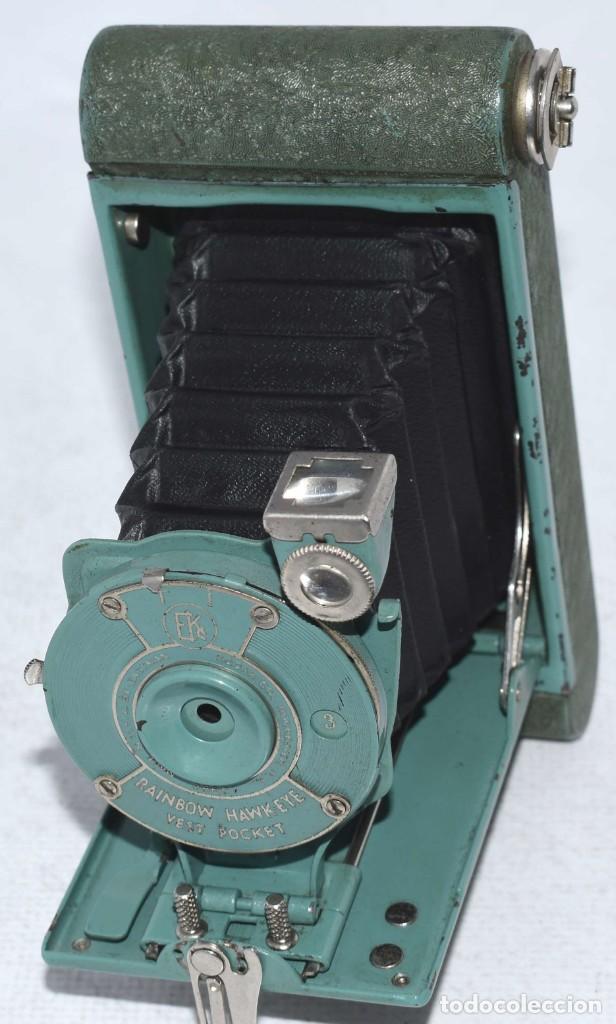 Cámara de fotos: PEQUEÑA JOYA EN COLOR VERDE..USA 1930..KODAK VEST POCKET RAINBOW HAWKEYE..MUY BUEN ESTADO..FUNCIONA - Foto 10 - 139083158