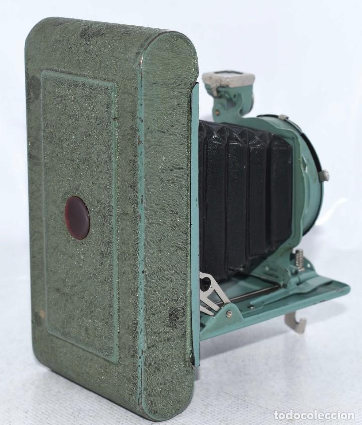 Cámara de fotos: PEQUEÑA JOYA EN COLOR VERDE..USA 1930..KODAK VEST POCKET RAINBOW HAWKEYE..MUY BUEN ESTADO..FUNCIONA - Foto 16 - 139083158