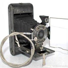 Cámara de fotos: SERIE ESPECIAL.SILVER ENSIGN POCKET ALL-DISTANCE Nº 1+CABLE..ENGLAND 1929...GRAN ESTADO.NO FUNCIONA. Lote 139087366