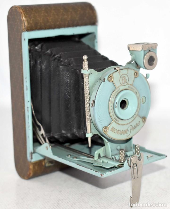 UNICA...KODAK PETITE AZUL..USA 1929..+STYLUS.. PEQUEÑA MARAVILLA..MUY BUEN ESTADO..FUNCIONA..OCASION (Cámaras Fotográficas - Antiguas (hasta 1950))
