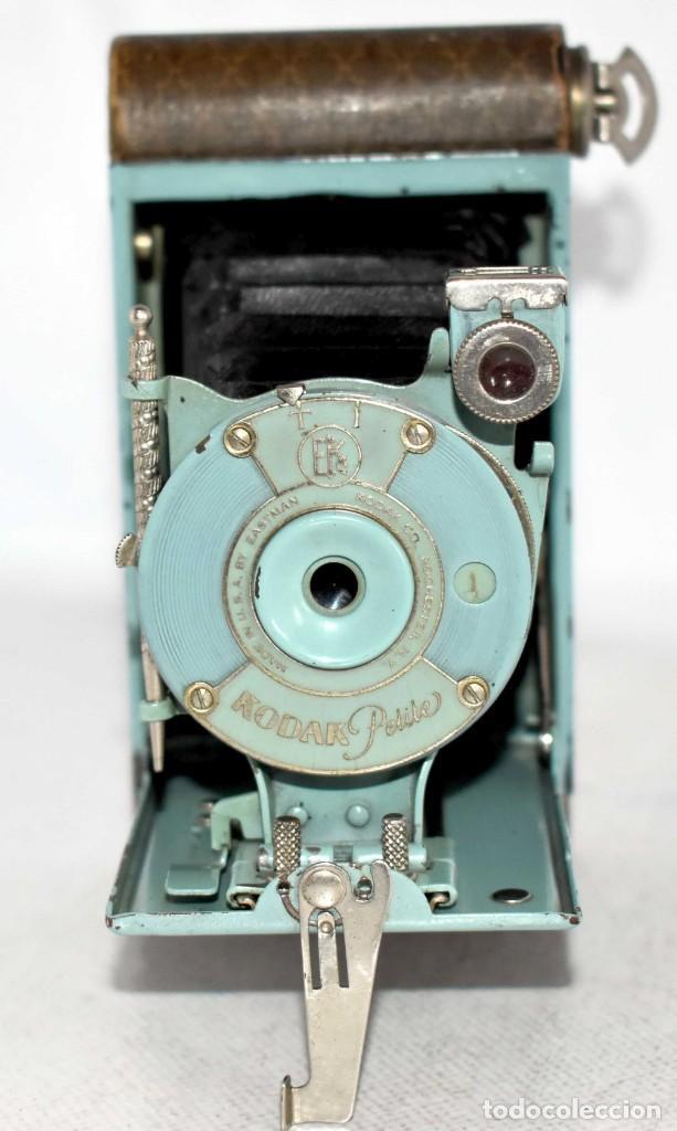 Cámara de fotos: UNICA...KODAK PETITE AZUL..USA 1929..+STYLUS.. PEQUEÑA MARAVILLA..MUY BUEN ESTADO..FUNCIONA..OCASION - Foto 7 - 139092666