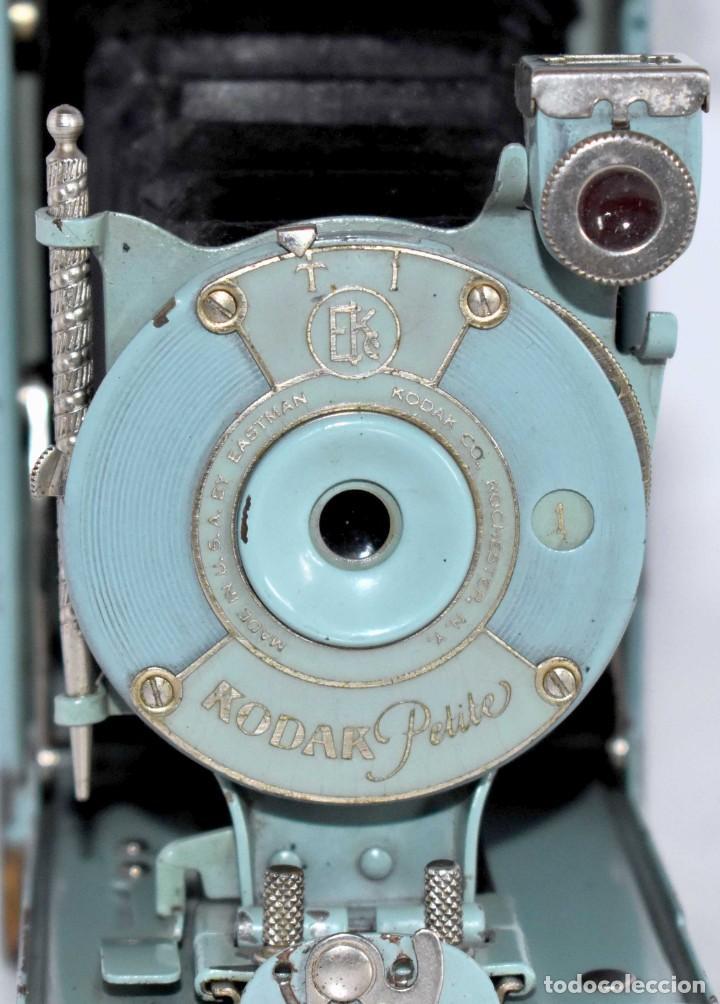 Cámara de fotos: UNICA...KODAK PETITE AZUL..USA 1929..+STYLUS.. PEQUEÑA MARAVILLA..MUY BUEN ESTADO..FUNCIONA..OCASION - Foto 8 - 139092666
