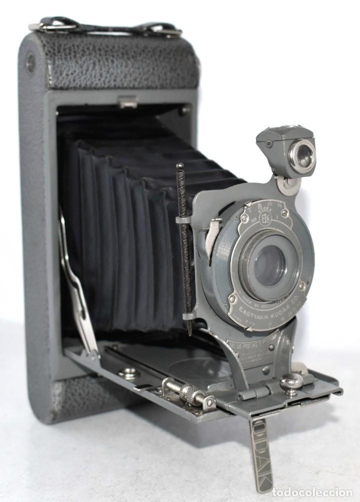 ANTIGUEDAD, BELLEZA Y COLOR..21 CM..KODAK 1A POCKET, GRIS..USA 1926..MUY BUEN ESTADO..FUNCIONA (Cámaras Fotográficas - Antiguas (hasta 1950))