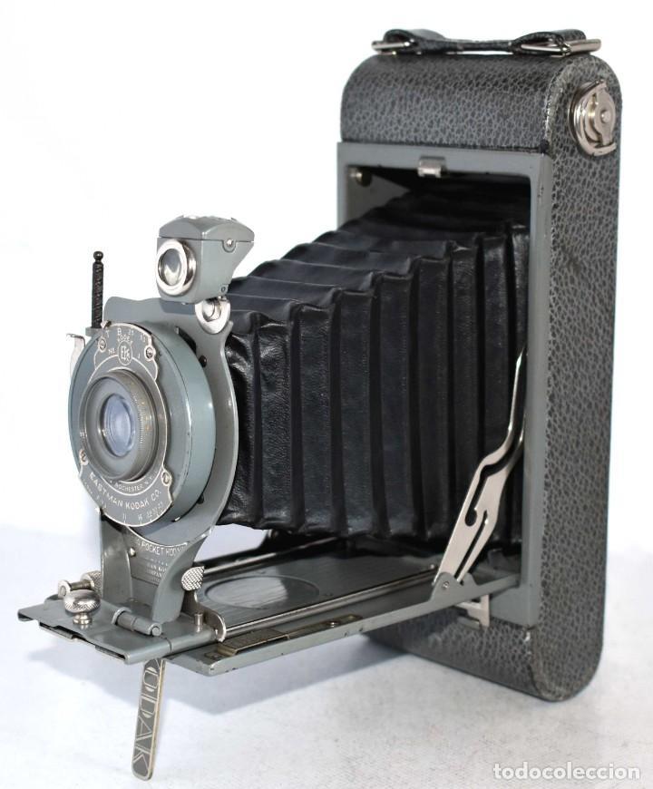 Cámara de fotos: ANTIGUEDAD, BELLEZA Y COLOR..21 CM..KODAK 1A POCKET, GRIS..USA 1926..MUY BUEN ESTADO..FUNCIONA - Foto 2 - 139103894
