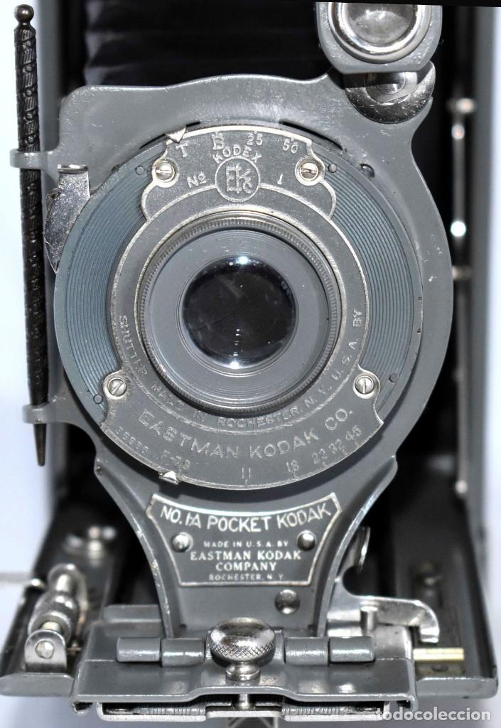 Cámara de fotos: ANTIGUEDAD, BELLEZA Y COLOR..21 CM..KODAK 1A POCKET, GRIS..USA 1926..MUY BUEN ESTADO..FUNCIONA - Foto 9 - 139103894
