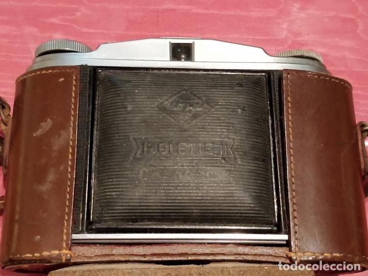 Cámara de fotos: Cámara AGFA ISOLETTE II 1950 de Fuelle, con funda de cuero original. - Foto 2 - 140971206