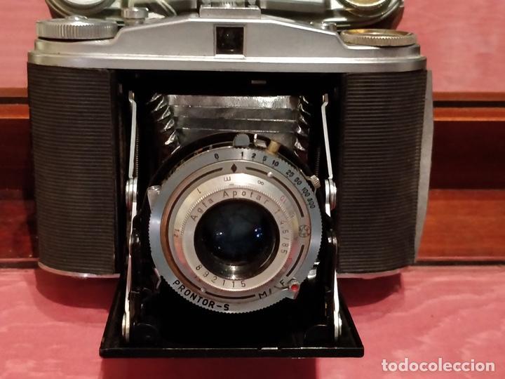 Cámara de fotos: Cámara AGFA ISOLETTE II 1950 de Fuelle, con funda de cuero original. - Foto 4 - 140971206