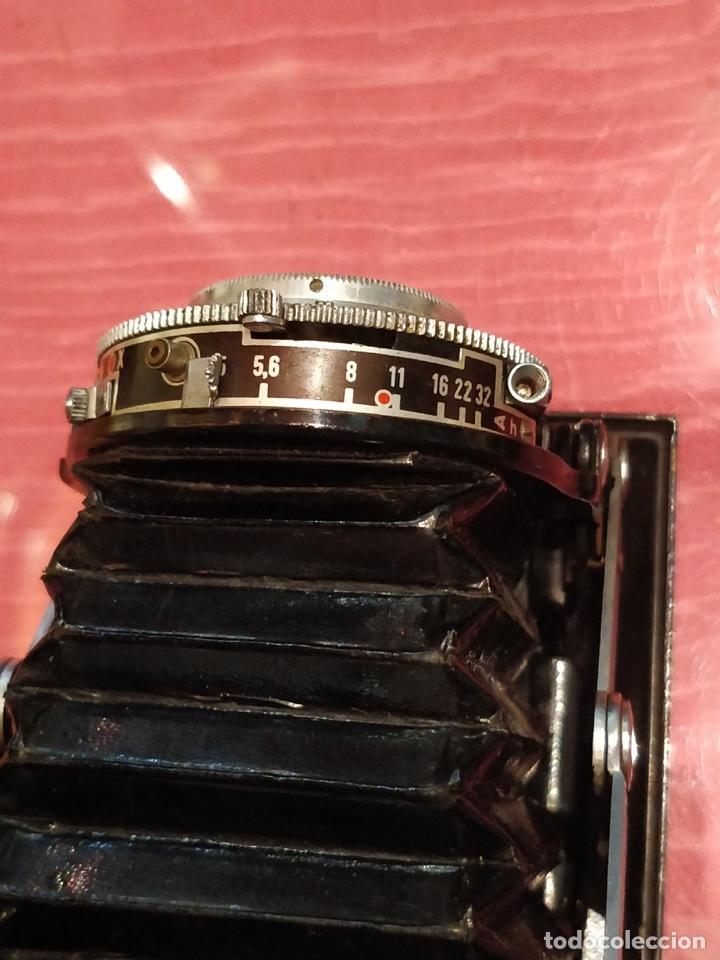 Cámara de fotos: Cámara AGFA ISOLETTE II 1950 de Fuelle, con funda de cuero original. - Foto 7 - 140971206