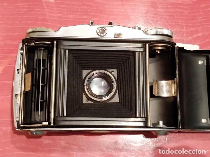 Cámara de fotos: Cámara AGFA ISOLETTE II 1950 de Fuelle, con funda de cuero original. - Foto 11 - 140971206