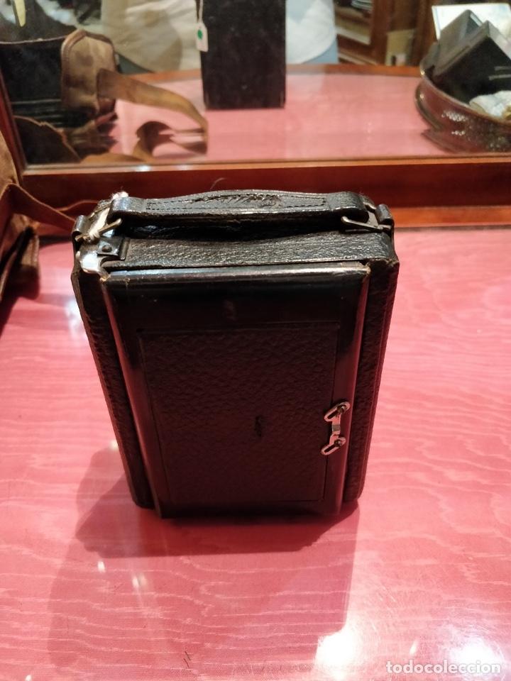 Cámara de fotos: Camara de fotos Butchers - Cameo de placas . fuelle cuero negro funda tela y 6 placas - Foto 5 - 52447109