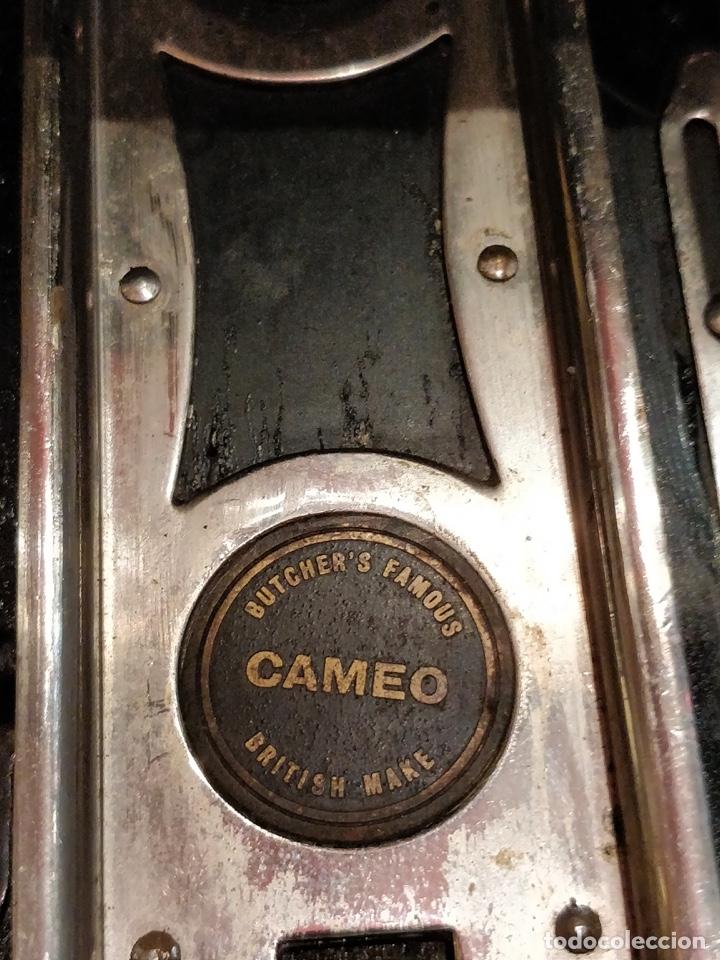 Cámara de fotos: Camara de fotos Butchers - Cameo de placas . fuelle cuero negro funda tela y 6 placas - Foto 8 - 52447109