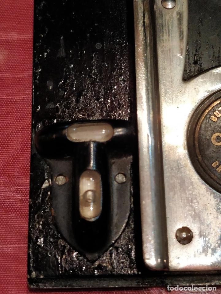 Cámara de fotos: Camara de fotos Butchers - Cameo de placas . fuelle cuero negro funda tela y 6 placas - Foto 10 - 52447109