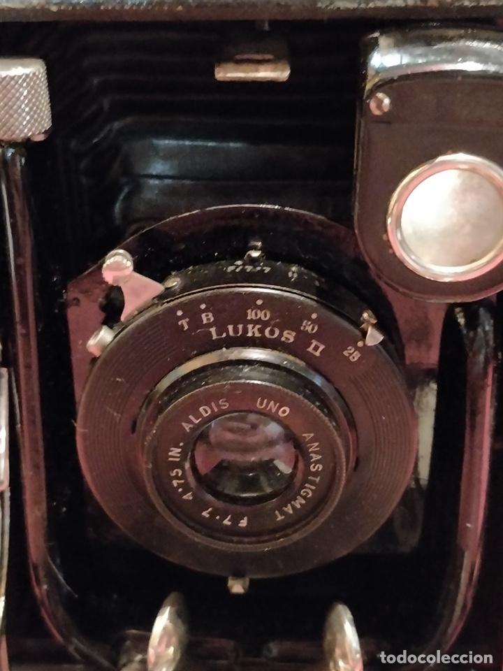 Cámara de fotos: Camara de fotos Butchers - Cameo de placas . fuelle cuero negro funda tela y 6 placas - Foto 11 - 52447109