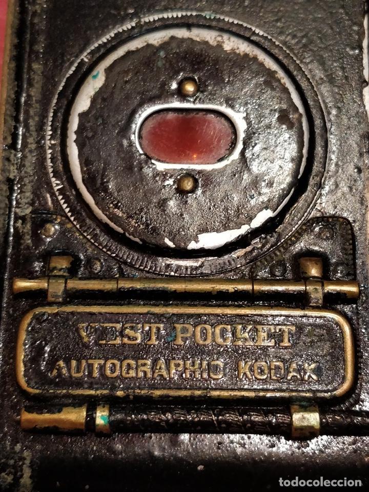 Cámara de fotos: Cámara de fuelle Easman Kodak 25 BT 50 de 1910 con funda de cuero marrón - Foto 2 - 141867838