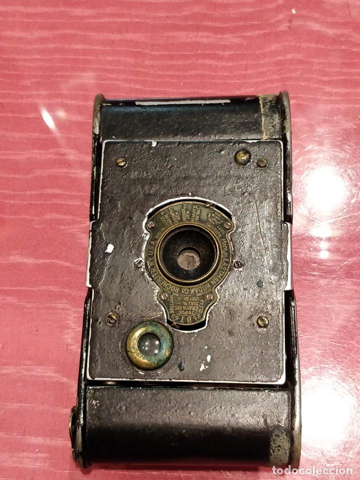 Cámara de fotos: Cámara de fuelle Easman Kodak 25 BT 50 de 1910 con funda de cuero marrón - Foto 3 - 141867838