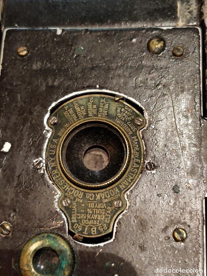 Cámara de fotos: Cámara de fuelle Easman Kodak 25 BT 50 de 1910 con funda de cuero marrón - Foto 4 - 141867838