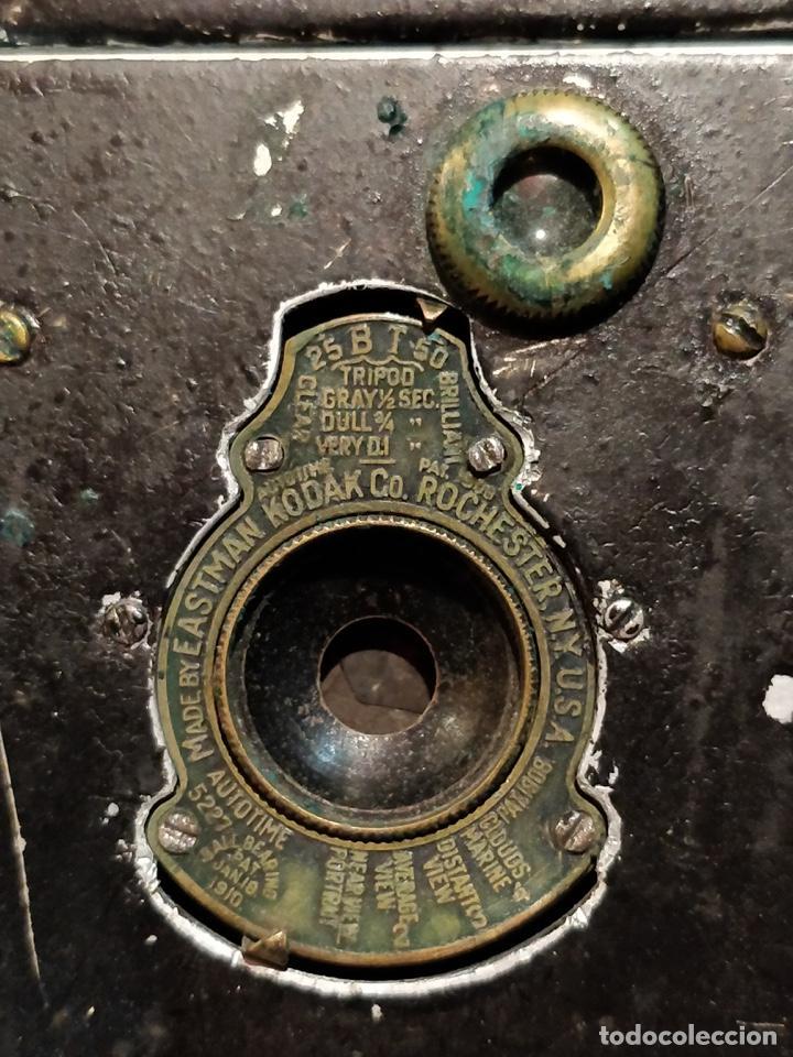 Cámara de fotos: Cámara de fuelle Easman Kodak 25 BT 50 de 1910 con funda de cuero marrón - Foto 5 - 141867838